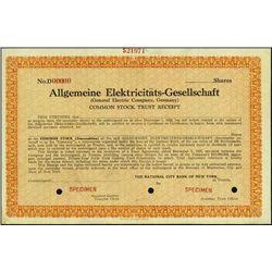 Germany. Allgemeine Elektric.Gesell. (GE Co, Germ