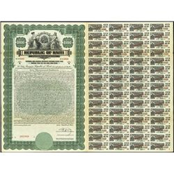 Haiti. Republic of Haiti Bond Assortment Bond Tri