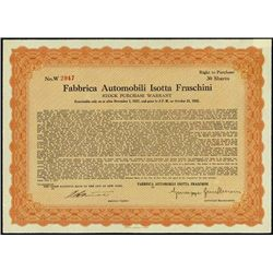 Italy. Fabbrica Automobili Isotta Fraschini
