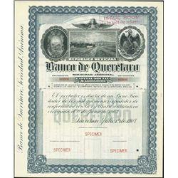 Mexico. Banco De Queretaro Specimen