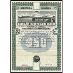 Mexico. Campania Industrial de El Oro Specimen