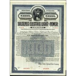 Mexico. Sultepec Electric Light and Power Co. Bon