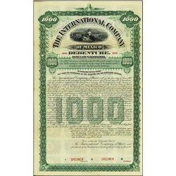 Mexico. The International Company of Mexico Bond