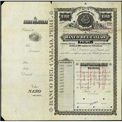Peru. Banco del Callao Specimen Bond