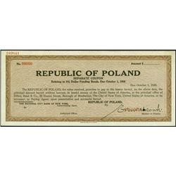 Republic of Poland - 3% Dollar Funding Bonds