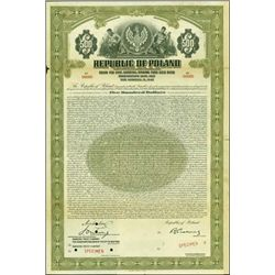 Rep. of Poland - Stabilization Loan, 1927 Gold Bo