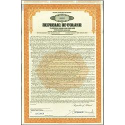 Republic of Poland - Stabilization Loan, 1927 Tal