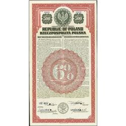 Poland. Republic of Poland - U.S. Dollar Gold Bon