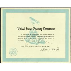 U.S.Treasury Department Distinguished Service Cer