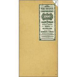 U.S. War Finance Corporation.