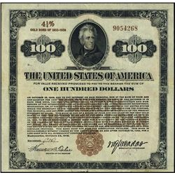 Washington, D.C. U.S. $100 Liberty Loan of 1918.