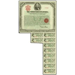 U.S. The United States of America Bearer Bond.