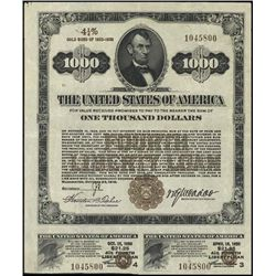 United States of America 4th Liberty Loan $1,000