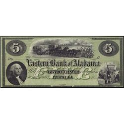 Alabama. Eastern Bank of Alabama Obsolete Banknot