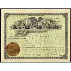 Alaska Gold Mining Association. Stock Certificate