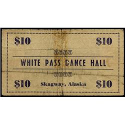 Alaska. White Hall Dance Hall Scrip Note.