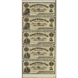 Georgia. Central Georgia Bank Uncut Banknote Shee