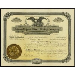 Alaska-Copper River Mining Co. Stock Certificate