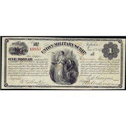 Kansas. Union Military Scrip Obsolete Banknote.