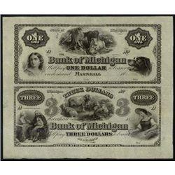 Michigan. The Bank of Michigan Uncut Obsolete She