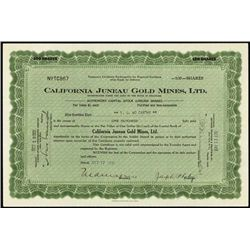 Alaska. California Juneau Gold Mines, Ltd. Pair.
