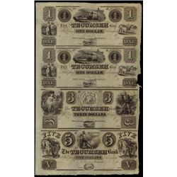 Michigan. The Tecumseh Bank Uncut Obsolete Sheet.