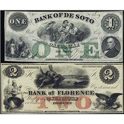 Nebraska. Obsolete Banknote Trio From Nebraska.