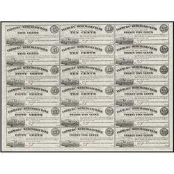 NJ. Farmers' & Merch. Bank Uncut Obsolete Sheet 1