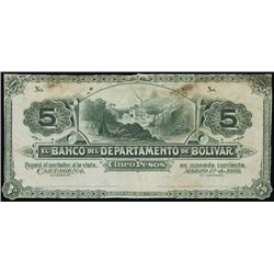 Colombia. El Banco Del Departamento De Bolivar Pr