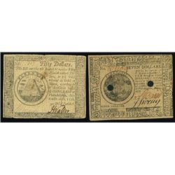 Pennsylvania. Colonial - Continental Banknote.