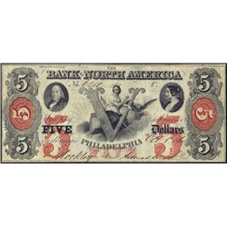 PA. The Bank of North America Obsolete Banknote.