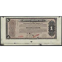 PA. The Johnson Company - 1893 Depression Scrip.