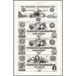 TX. Commercial & Agricultural Bank Uncut Prf Shee