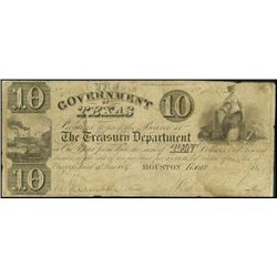 Texas. Government of Texas Obsolete Banknote