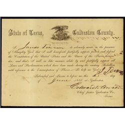 Texas. Texas Civil War Era Loyalty Oath.