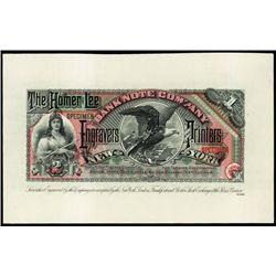 U.S. Homer Lee Banknote Co.Advertising Banknote.