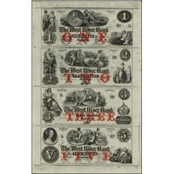 VT. West River Bank Obsolete Sheet w/ Coin Vignet