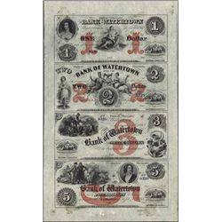 Wisconsin. The Bank of Watertown Obsolete Sheet.