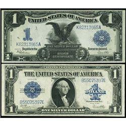 U.S. $1 Silver Certificate Pair- Series 1899 and