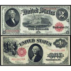 U.S. United States Note Pair- Series 1917.