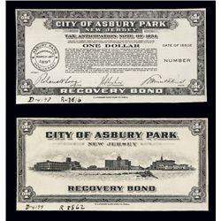New Jersey. City of Asbury Park Dep. Scrip Proofs