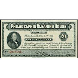 PA. Philadelphia Clearing House Depression scrip