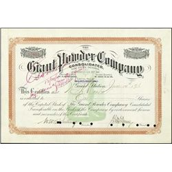 California. The Giant Powder Company Stock Certif