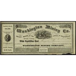 California. Washington Mining Company