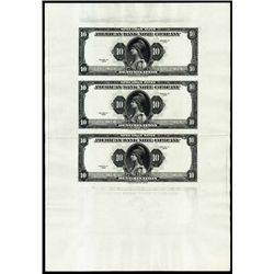 ABNCompany Advertising Banknote Sheet