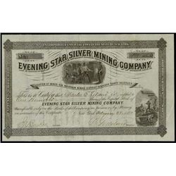 Colorado. Evening Star Silver Mining Co.