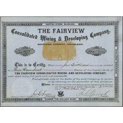 CO. The Fairview Consolidated Mining & Developing