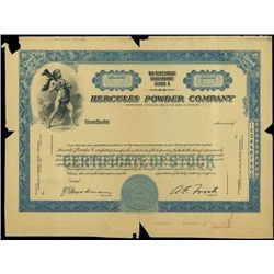 Delaware. U.S. Hercules Powder Co. Proof Stock.