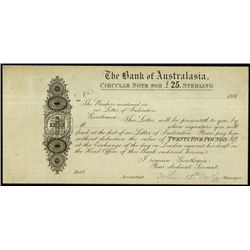 Australia. The Bank of Australasia Proof Banknote