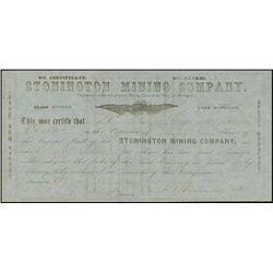 Michigan. Stonington Mining Company - Lake Superi
